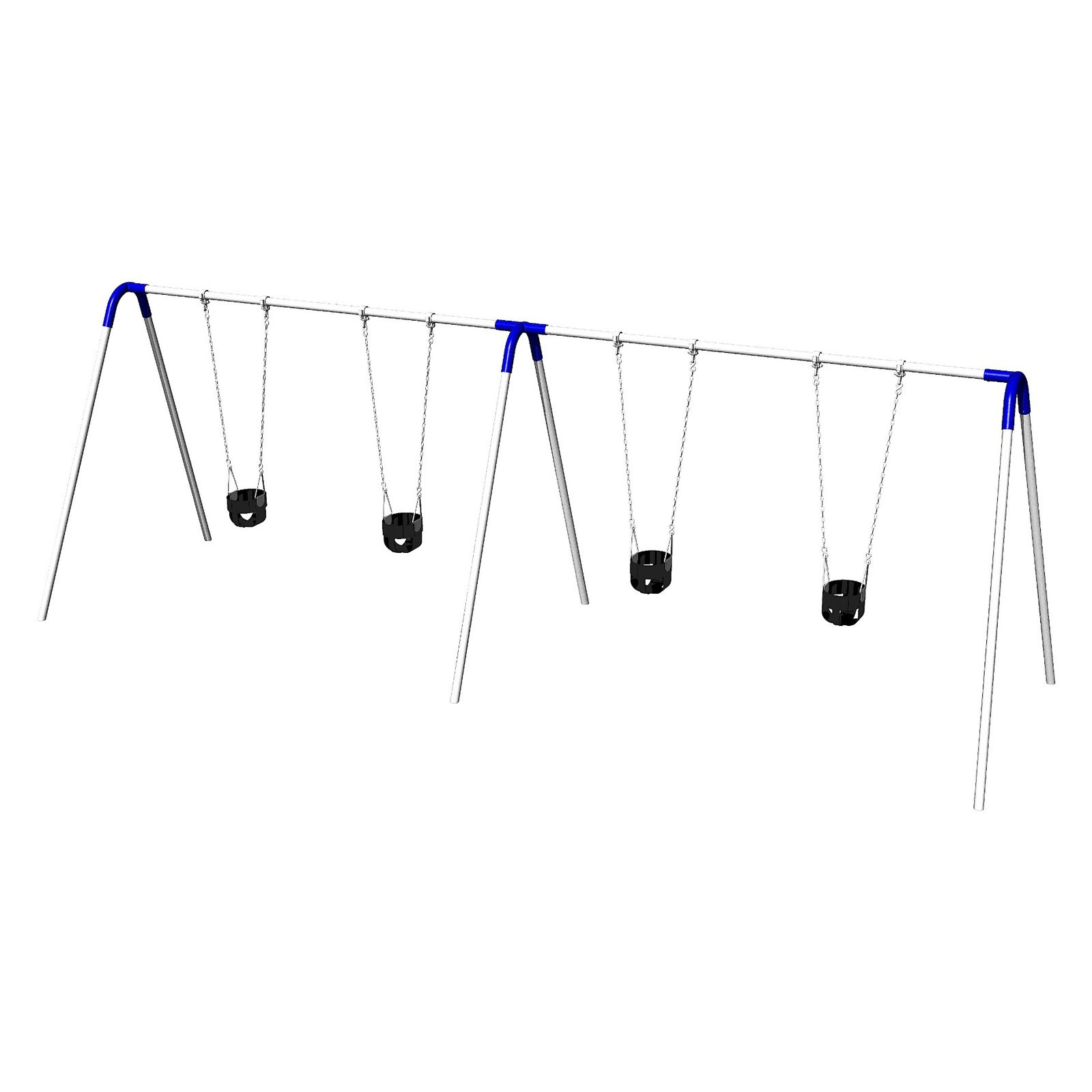 Ultra Play 8 ft. Double Bay Swing Set