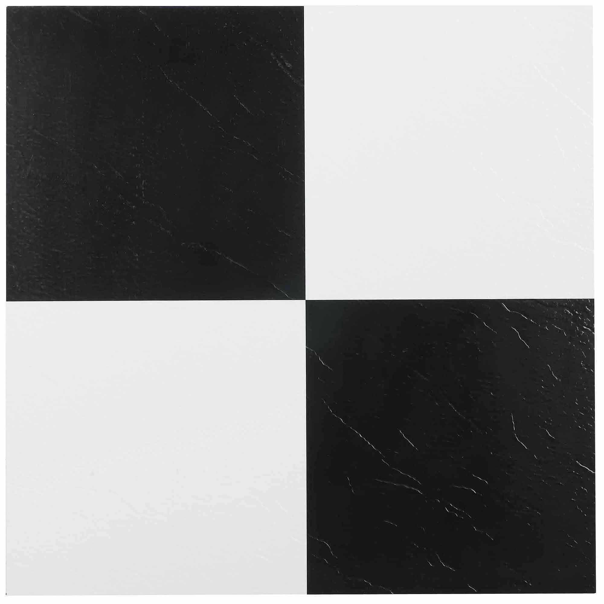 Vinyl flooring walmart nexus black white 12x12 self adhesive vinyl floor tile 20 tiles20 sq dailygadgetfo Image collections