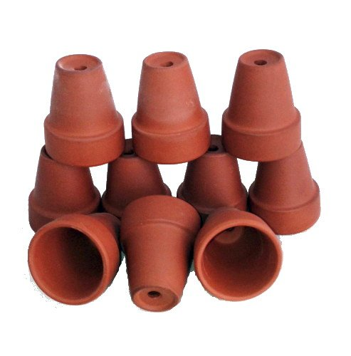 """10 - Ultra Mini 1 1/2"""" x 1 7/8"""" Clay Pots - Great for Crafts and Fairy Gardens"""
