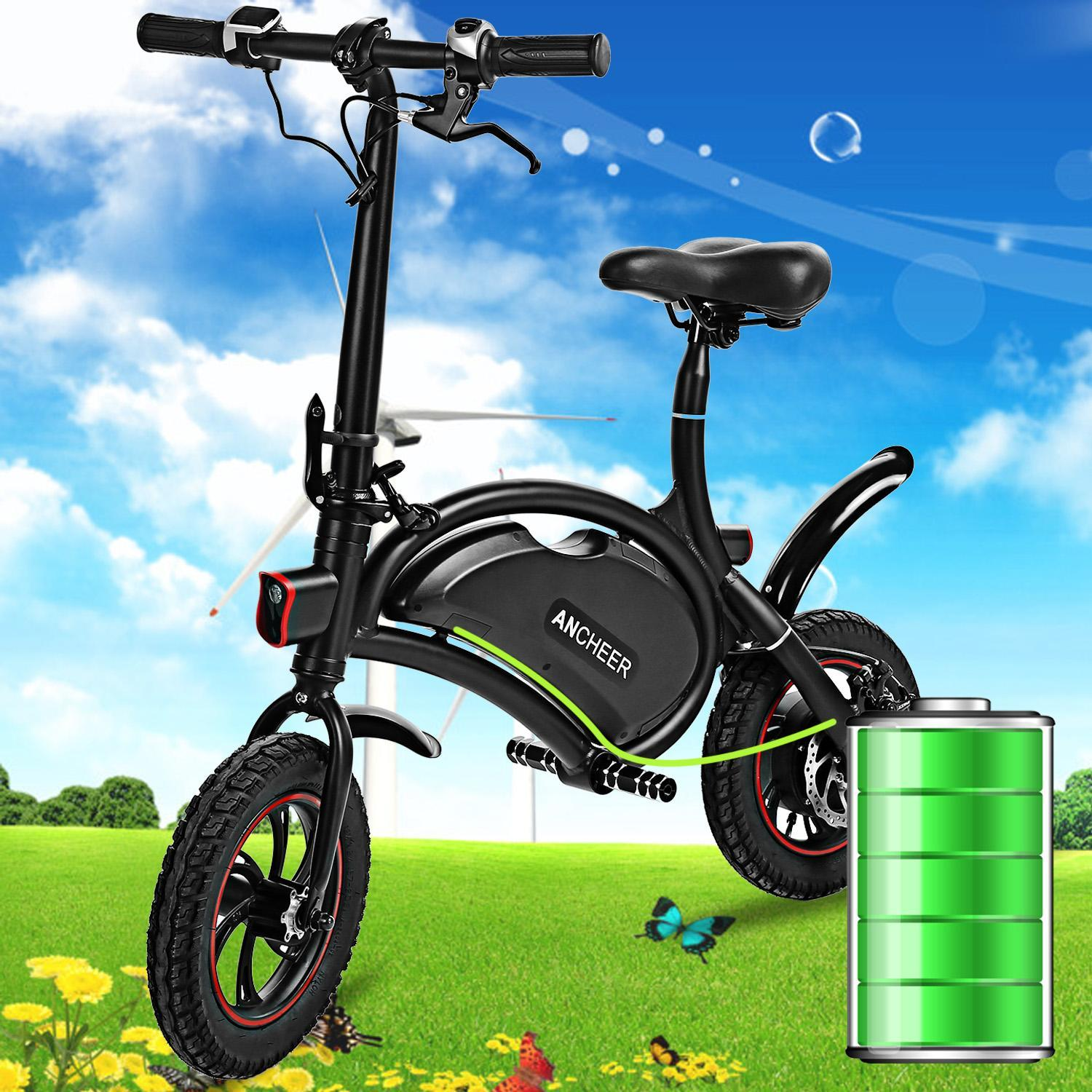 Electric Bikes For Adults Mini Folding Electric Bike Aluminum Electric Bicycle 20KM Range Portable eBike DEAML