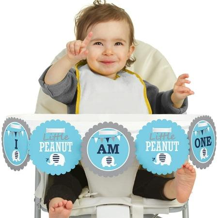 Boy 1st Birthday Ideas (Blue Elephant 1st Birthday - I Am One -  Boy First Birthday High Chair)