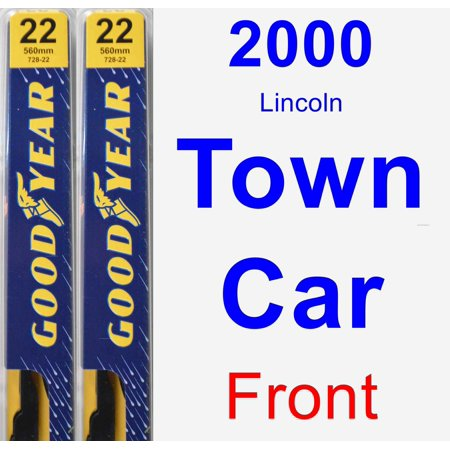 Blade Car (2000 Lincoln Town Car Wiper Blade Set/Kit (Front) (2 Blades) -)