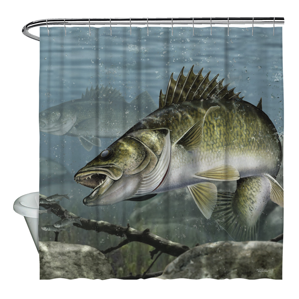 Wild Wings Feeding Frounds 2 Shower Curtain White 71X74