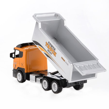 1PCS 1/43 Scale Diecast Metal Car Models Construction Trucks Friction Powered Vehicles - image 3 of 6