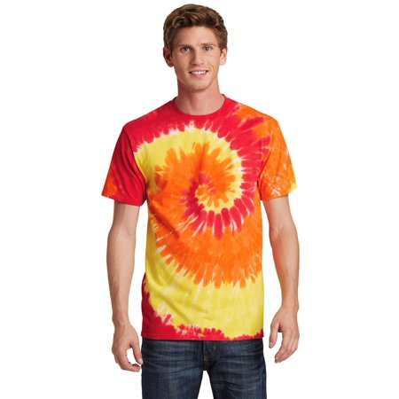Port & Company Men's Colorful Tie-Dye Crewneck (Medium Tie Dye Shirt)