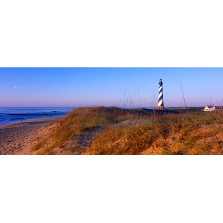 Cape Hatteras Outer Banks North Carolina - Cape Hatteras Lighthouse on the coast Hatteras Island Outer Banks Buxton North Carolina USA Poster Print by Panoramic Images