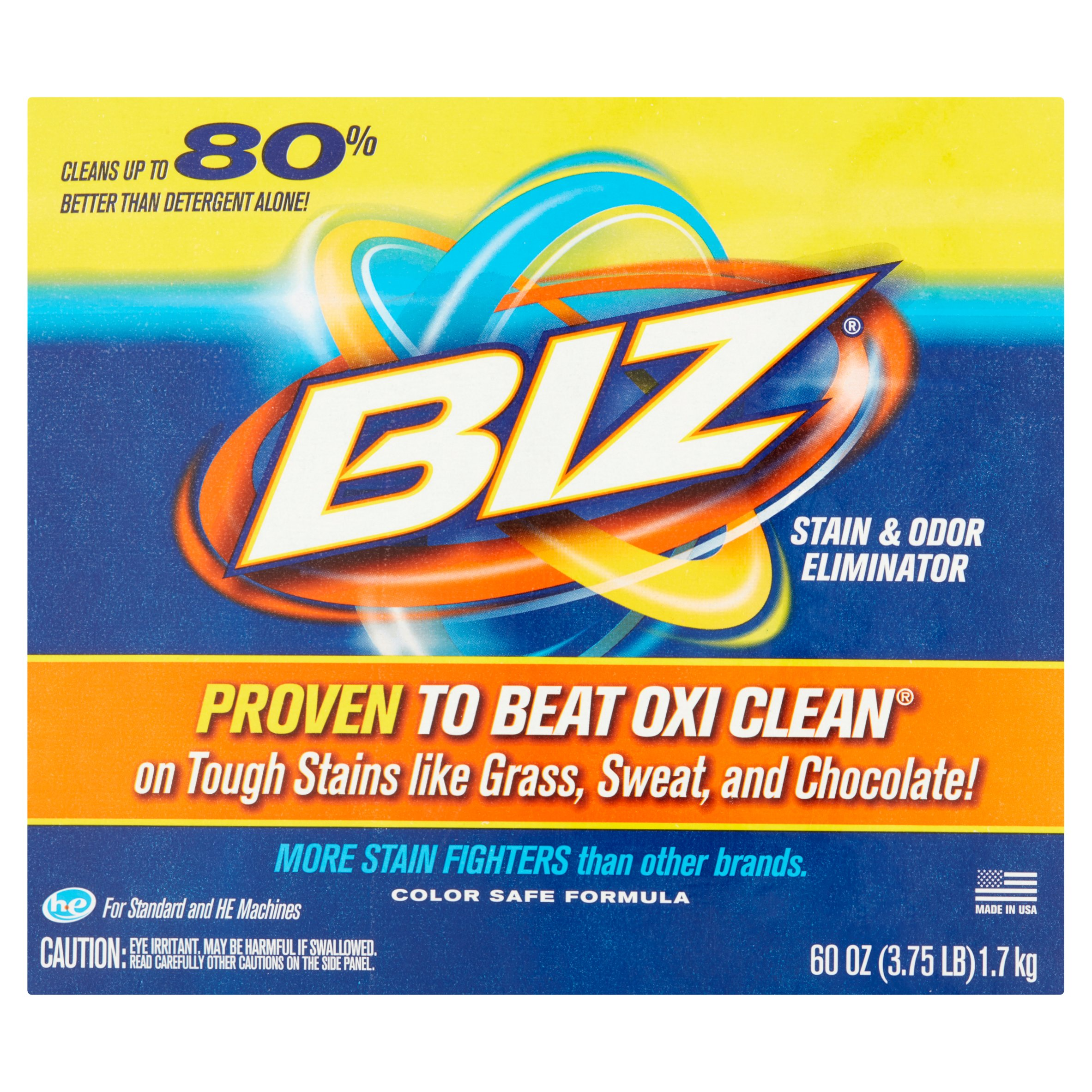 Biz Stain & Odor Eliminator, 60 oz