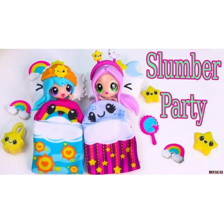 Slumber Party Girl Sleep Over Edible Cake Topper Image ABPID00095V2