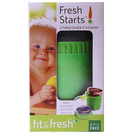 Fit & Fresh Chilled Snack Container, Reusable, BPA-Free, Leak-Proof, On-the-Go Dry Snack Storage, Freezable