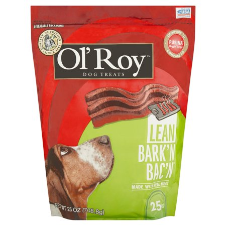 Ol Roy Barkn Bacn Lean Beef Flavor Dog Treats  25 Oz