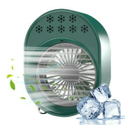 Air Cooler 500Ml Mini Space Cooler with Misting Desktop Air Conditioning Fan with 3 Wind Speeds Colorful Usb Powered Quiet Air Cooler Cooling Fan for Home Room Office