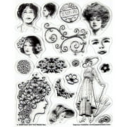 Hot Off the Press Vintage Ladies Clear Stamp Set