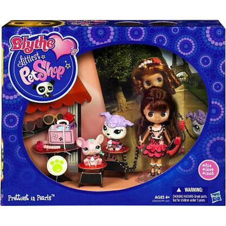 Littlest Pet Shop Blythe's Travel Prettiest in Pearls Figure Set - Lps Birthday Party Set