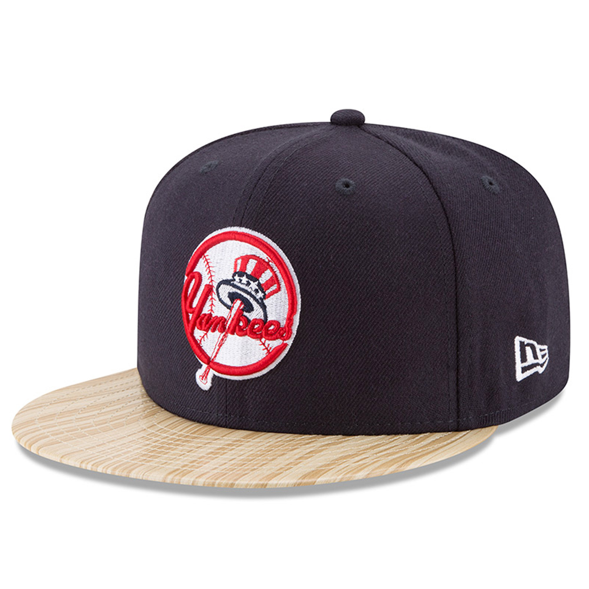New York Yankees New Era 1987 Topps Collaboration 9FIFTY Adjustable Hat - Navy/Tan - OSFA