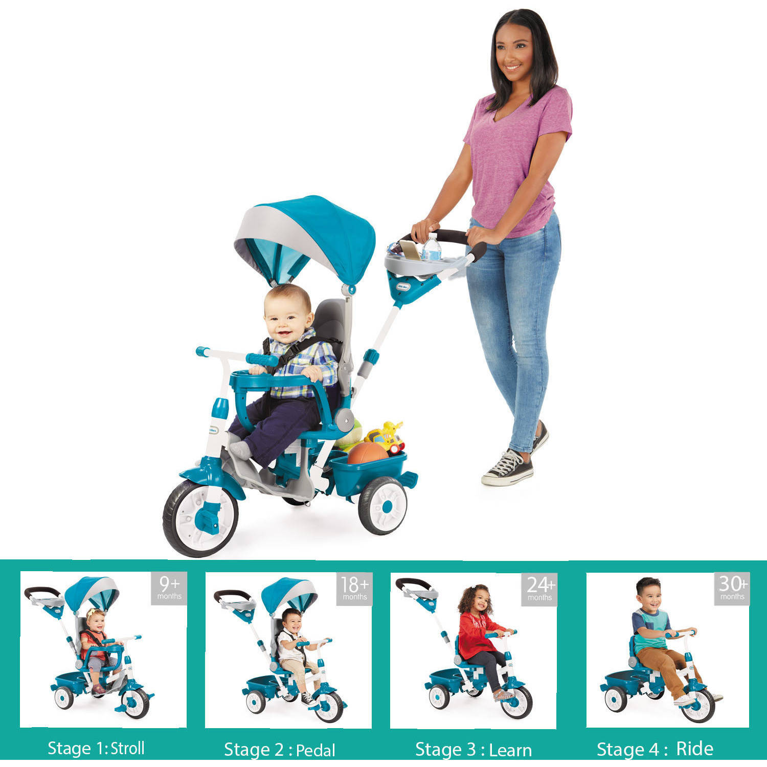 Perfect Fit 4-in-1 Trike, Teal