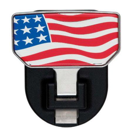 CARR  HD Universal Hitch Step American Flag - single