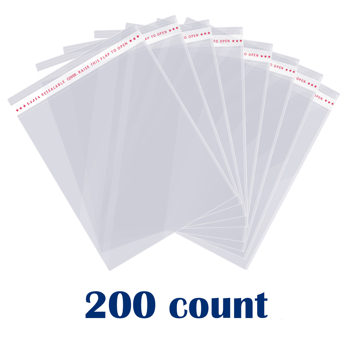 100 Pieces Mail Bags Clear Apparel Self Adhesive Seal Plastic For T-Shirt And X