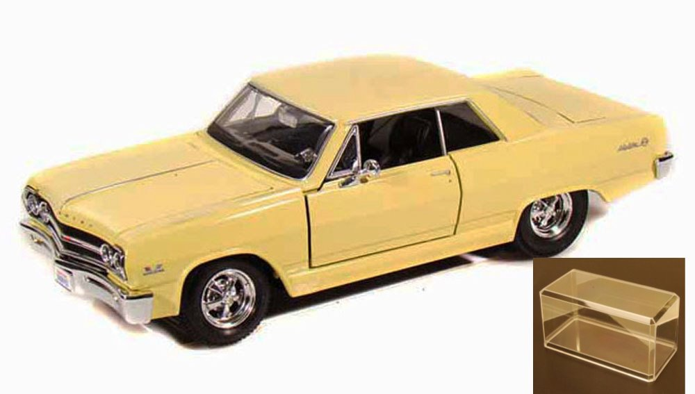 Diecast Car & Accessory Package 1965 Chevy Malibu SS, Yellow Maisto 34258 1 24 Scale... by Maisto