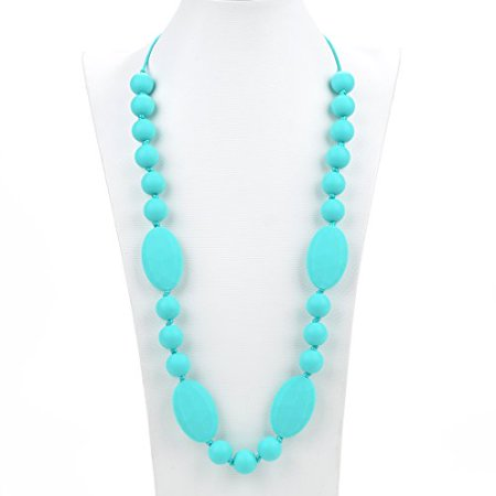 Consider It Maid Silicone Teething Necklace for Mom to Wear - BPA FREE and FDA Approved - Utopia