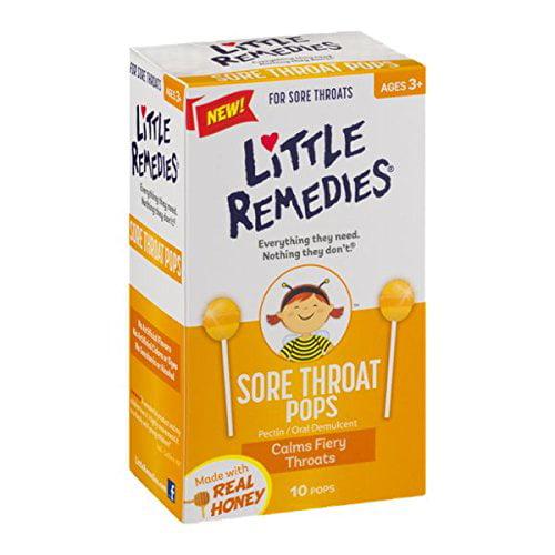 6 Pack - Little Colds Honey Pops For Childrens Cough 10 Pops Each