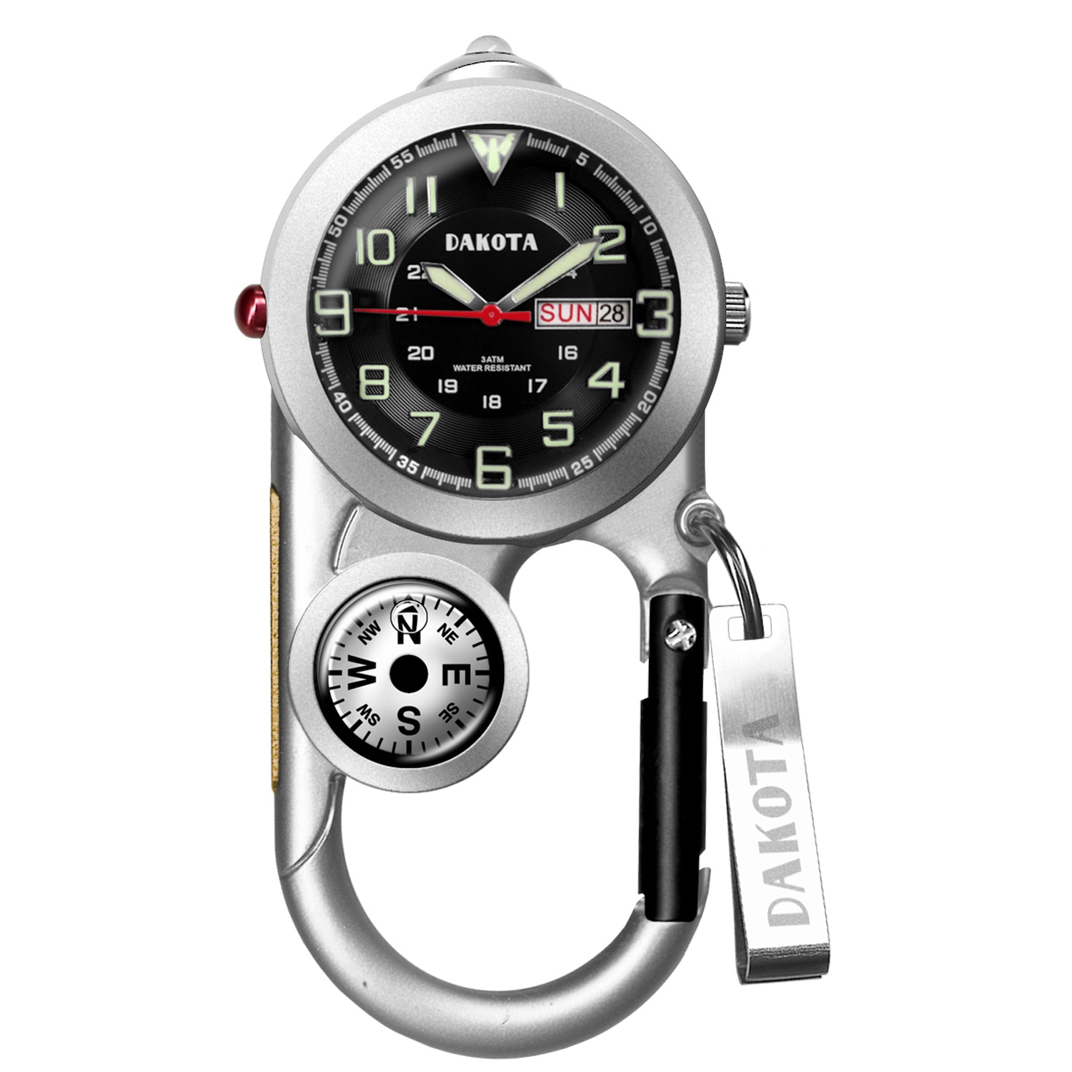 Dakota Watch Dakota Men's Angler II Day/Date Carabiner Watch