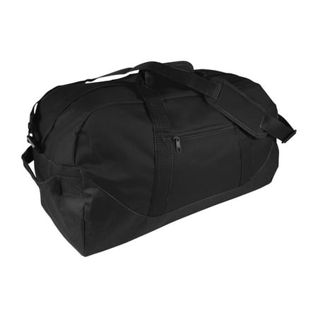 21 Large Duffle Bag with Adjustable Strap in Black - Large Roller Duffle