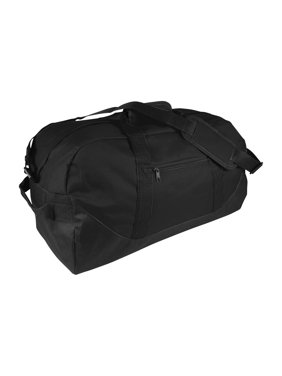 0120eca43428 Product Image 21 Large Duffle Bag with Adjustable Strap in Black