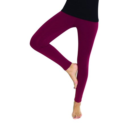 MeMoi Premium Fleece Footless Tights - Assorted Colors L/XL / Beet Red MJB 346