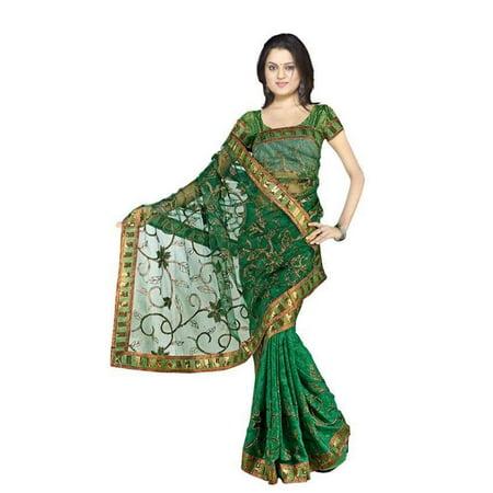Charulata  Georgette Indian Sari saree with Embroidery