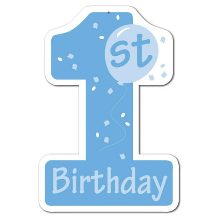Club pack of 24 blue and white 1st birthday number one for Number 1 decorations