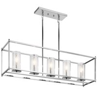 "Kichler 43995 Crosby 5 Light 41"" Wide Linear Chandelier"
