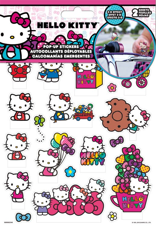 Sticker Pop-Up Hello Kitty 3D New Toys Games st5141 by Trend
