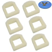 HQRP 6-Pack Foam Pre-Filter for Drinkwell Ceramic Lotus PWW00-13709 / DMLT-CER, Sedona PWW00-15417, Pagoda PWW00-13907 / PWW00-14289 Pet Fountains; PAC00-13711 / PAC00-13194 Repl. + HQRP Coaster