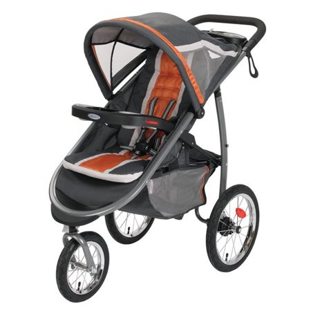 Graco FastAction Fold Jogger Click Connect Jogging Stroller, Tangerine