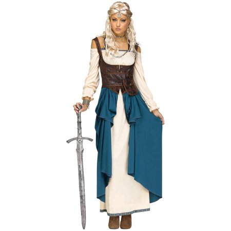 Viking Queen Adult Costume M/L](Snow Queen Costume Adults)