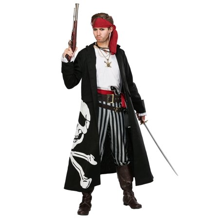 Pirate Flag Captain Mens Costume - Captain Pirate Costume