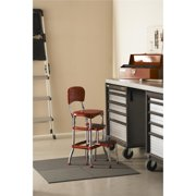 Surprising Cosco Red Retro Counter Chair Step Stool Ncnpc Chair Design For Home Ncnpcorg