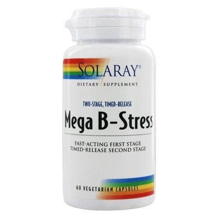 Solaray - Mega B Stress Two-Stage Time-Release - 60 Vegetarian (Vegetarian Mega Vitamin)