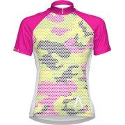 Primal Wear Mish Mesh Women's Cycling Jersey: White/Pink/Yellow, LG