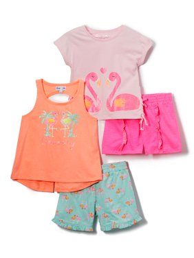 934bfbe312 Product Image Flamingo Mix and Match, 4-Piece Outfit Set (Little Girls &  Big Girls
