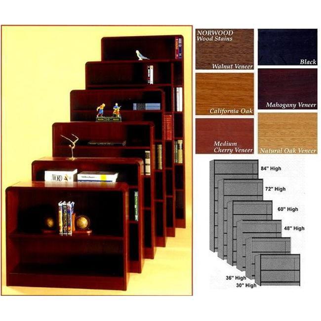 Norsons R483EXC MH 3 Shelf Radius Edge Bookcases Lumbercore - Mahogany