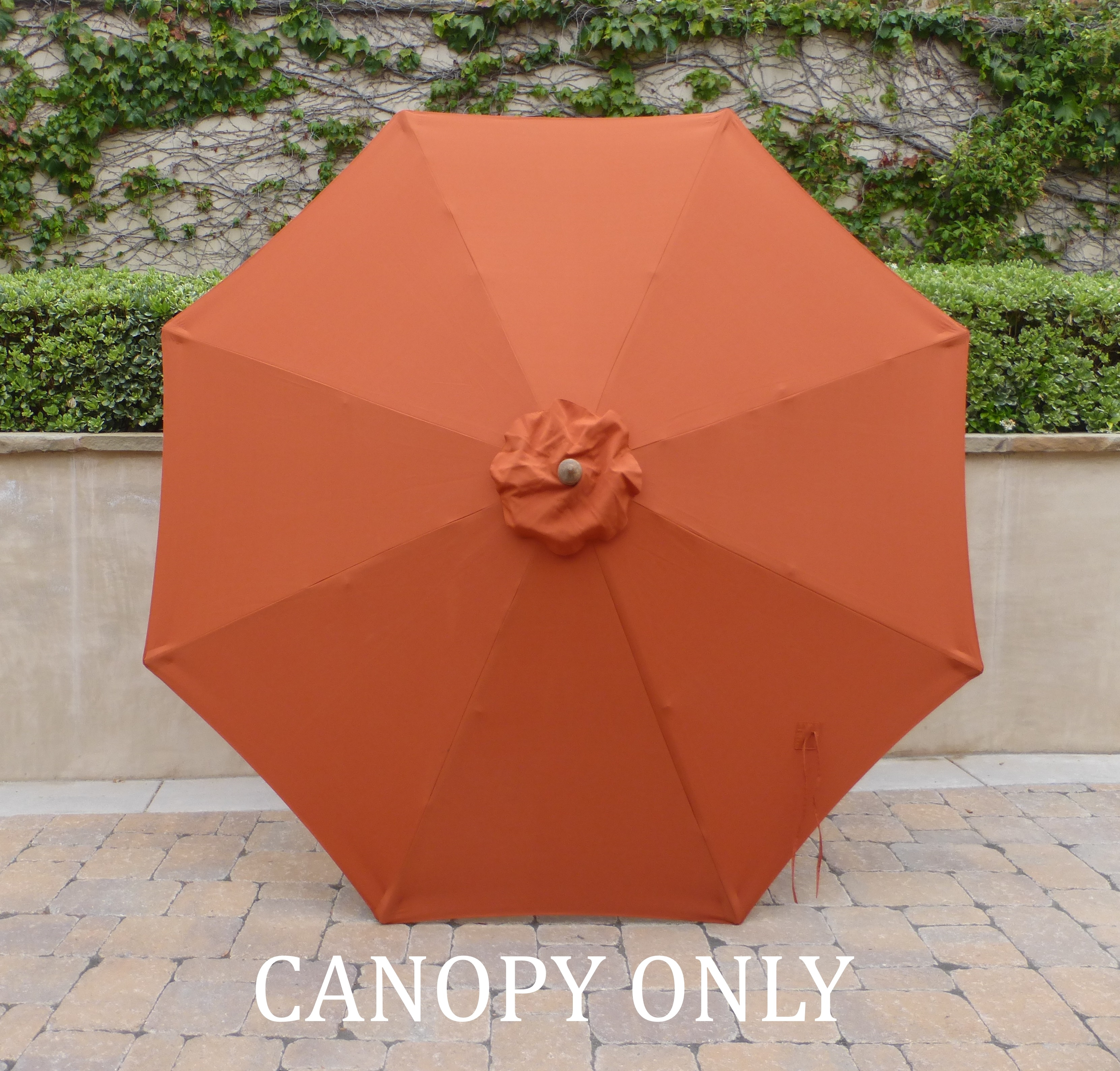 Formosa Covers 10ft Market Patio Umbrella Replacement Cover Canopy, 8 Ribs, Terracotta Color (CANOPY ONLY)
