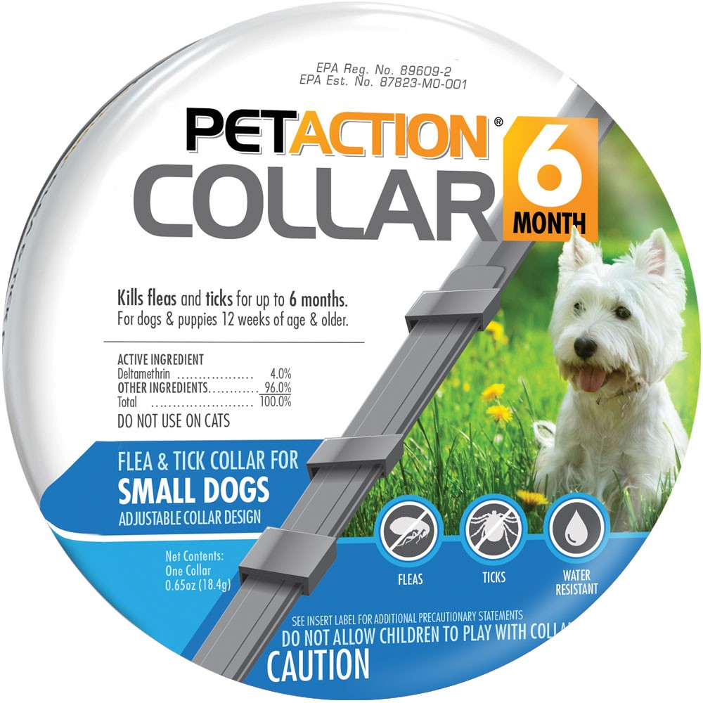 PetAction Flea & Tick Collar for Small Dogs, 6 Months Prevention