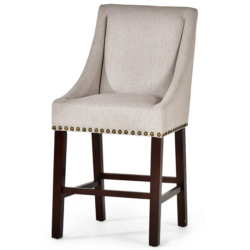 Steve Silver Jolie 24 Quot Counter Stool In Light Taupe