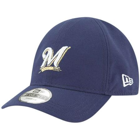 Milwaukee Brewers New Era Infant My 1st 9TWENTY Adjustable Hat - Navy - OSFA Single Soft Heat Brewer