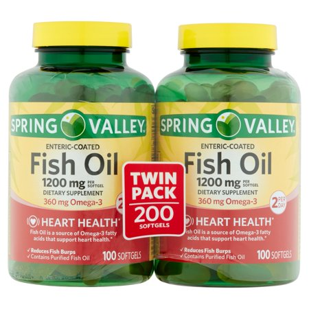 Spring Valley Coated Fish Oil Softgels 1200mg 100 Pc 2