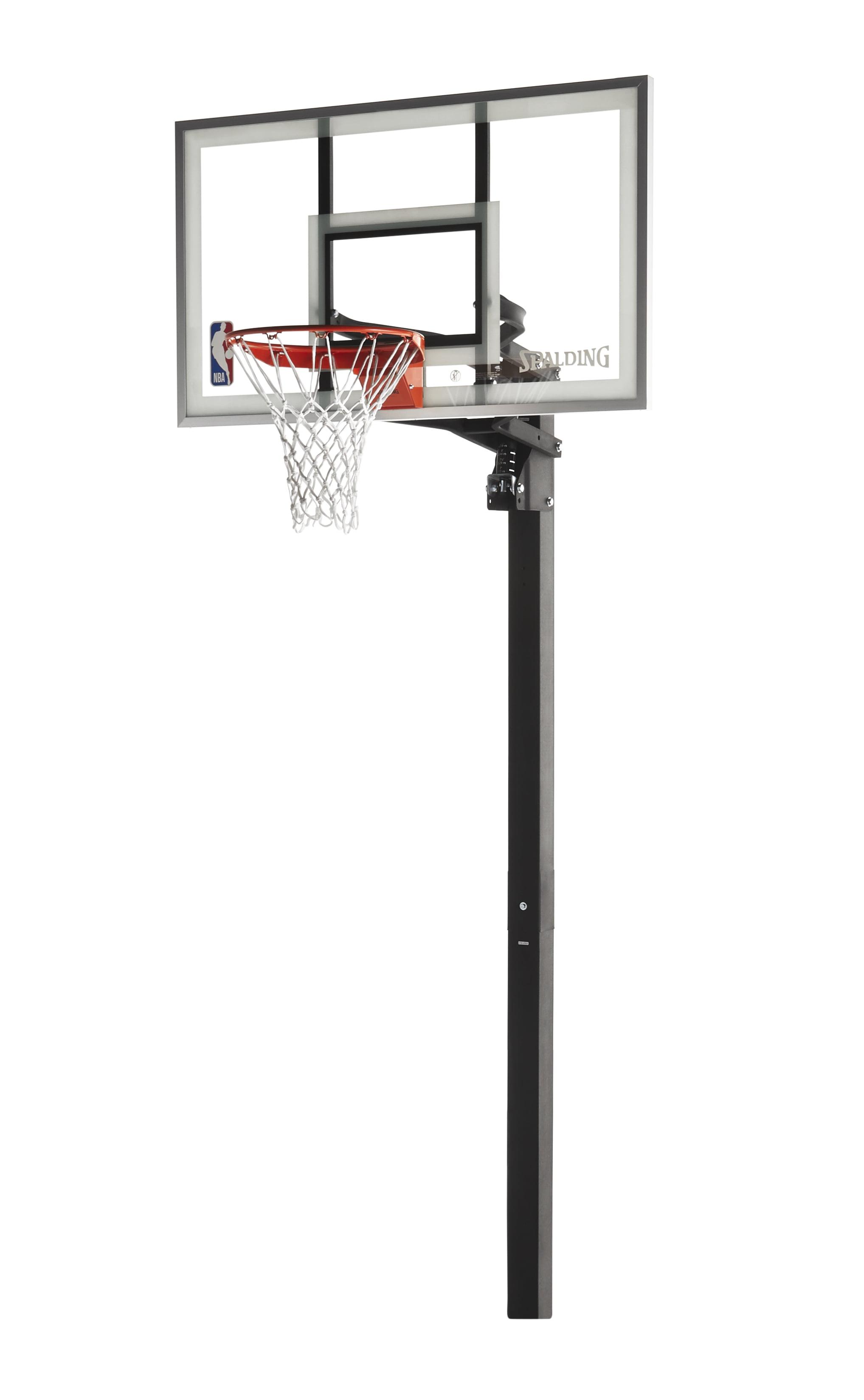 "Spalding NBA 60"" Glass U-Turn In-Ground Hoop System by Spalding"