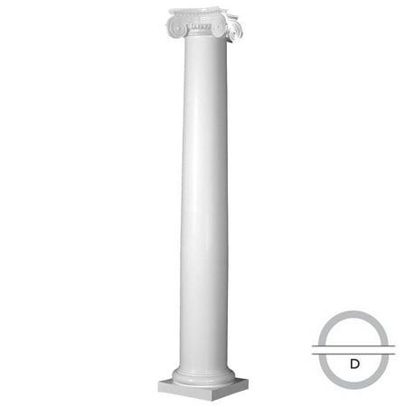 Endura Stone Round Tapered Column FRP Smooth Paint Grade Greek Angula