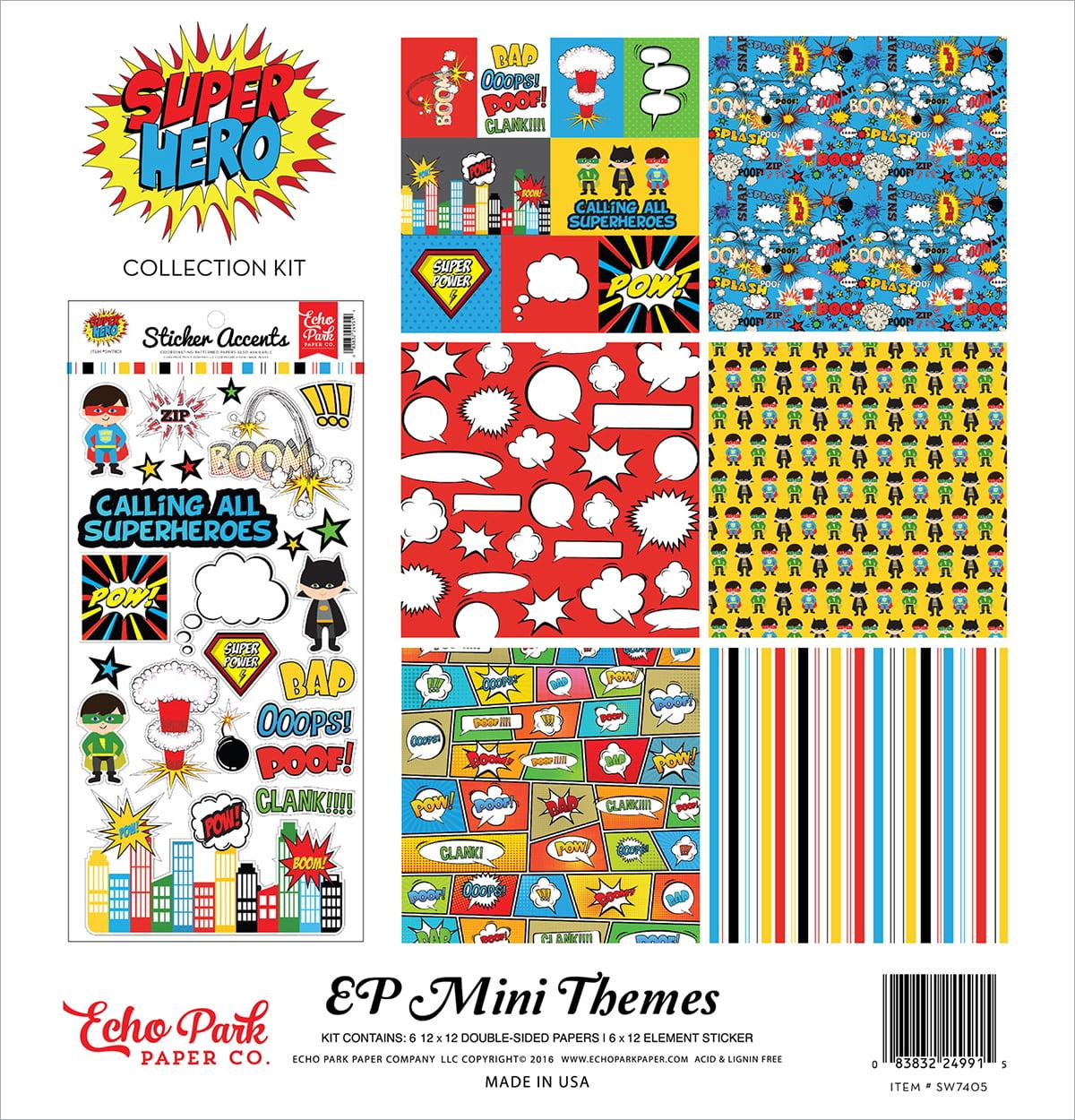 "Echo Park Collection Kit, 12"" x 12"", Superhero"