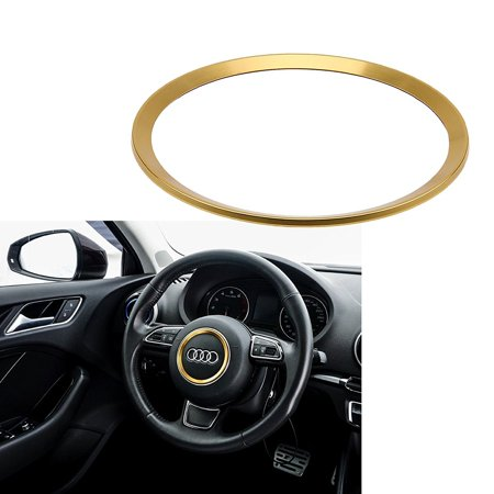Xotic Tech One Piece Steering Wheel Center Decoration Gold Cover Trim For Audi A3 A6 Q3 Q5 A5 A6L